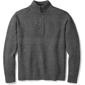 Smartwool Ripple Ridge Pullover Media cremallera Hombre, light gray heather-charcoal heather